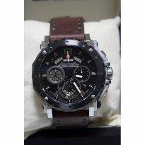 Expedition 6402 Silver Black Leather Brown Untuk Pria