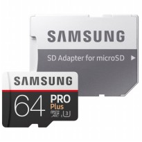 Samsung MicroSDXC Pro Plus UHS-1 (100MB/s) 64GB With SD Adapter - MB-MD64GA