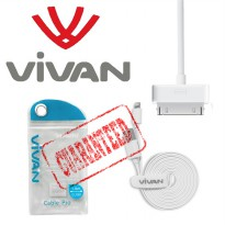 Kabel Data Vivan Original Apple Legacy Connector 100cm | iPhone 4G 4S iPad 1 2 | free bumper