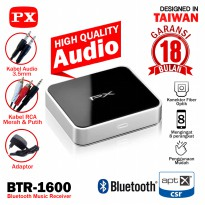 Auto Pairing Bluetooth Receiver Audio aptX HD Stereo PX BTR-1600