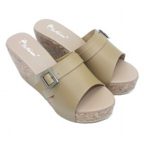 Dr.Kevin Women Wedges Sandals Leather 27338 Mocca