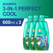 Rejoice 3-in-1 Perfect Cool Sampo 600 ml - Paket isi 3