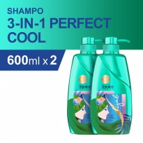 Rejoice 3-in-1 Perfect Cool Sampo 600 ml - Paket isi 2