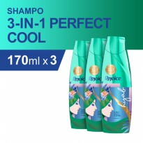 Rejoice 3-in-1 Perfect Cool Sampo 170 ml - Paket isi 3