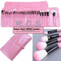 SALE DOMPET PINK Make Up for You Brush Set isi 24pc ( Kuas Make up ) MERAH
