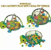 Babyelle 3in1 Activity Play Gym & Ball Pit - Turtle