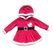 Dress Hoody christmas Belt Bordir / dress natal / dress natal bayi