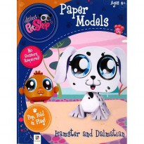 [HelloPandaBooks] Paper Models Littlest PetShop Hamster and Dalmatian - Pop Fold Play!