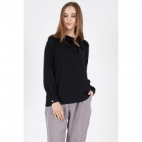 Saanyi Bow Blouse Black