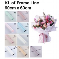 KL of Frame Line 3 lembar – cellophane – wrapping bunga murah