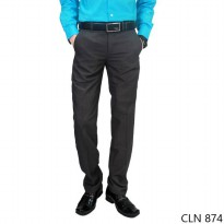 Mens Slim Fit Smart Suit Trousers Katun Abu Tua – CLN 874