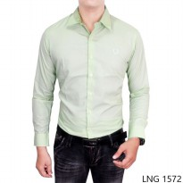 Long Sleeved Formal Shirts Katun Hijau Muda – LNG 1572