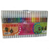 Spidol Colored Markers Snowman Set 24 Warna