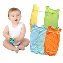 KAZEL Singlet Jumper | Newborn-18 M| Banyak Warna| 1 Box=6 pcs