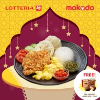 [LOTTERIA] Paket B/Crispy Chicken Sambal (Merah/Hijau)/FREE Lotteria Tea (Ice/Hot) + Lotte Chocopie 1pcs