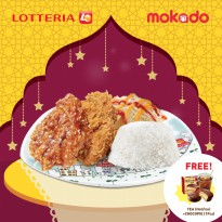 [LOTTERIA] Paket C/1 Crispy Chicken + 1 Spicy Chicken + Rice + Salad/FREE Lotteria Tea (Ice/Hot) + Lotte Chocopie 1pcs