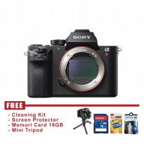 Sony Alpha SLT A7R Mark II Body Only - Hitam - FREE Accessories