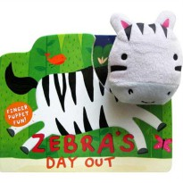 [Hellopandabooks] Zebra's Day Out Finger Puppet Fun Board Book