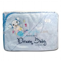 Dream Baby Hooded Blanket Elephant Size 72 x 72cm Color Blue Age 0M+