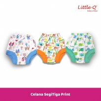 Celana Segitiga Print New Born Merk Little Q isi 3 pcs