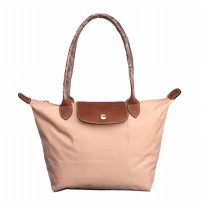 Authentiic Longchamp Le Pliage Medium Longhandle Classic - Peach