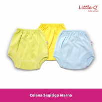 Celana Segitiga Warna New Born Merk Little Q isi 3 pcs