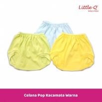 Celana Pop Kacamata Bayi Warna New Born Merk Little Q isi 3 pcs