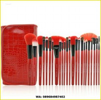 Make Up For You Brush Set Isi 24 Warna Red