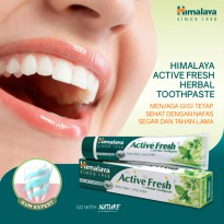 Himalaya Active Fresh Herbal Toothpaste 100 gr / Pasta Gigi Odol / HLC0319001