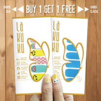 [BUY 1 GET 1 FREE] LAKUKU Nail Sticker / Stiker Kuku Cute & Cartoon