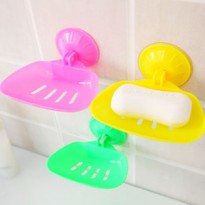 Plastic Sucker Draining Soap gantungan tempat sabun tanpa paku simple