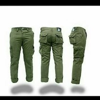 Cargo long pants premium green