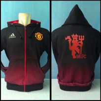 Jaket Hoodie Bola Manchester United M-724r [red devils logo wallpaper news]