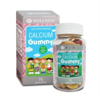 Wellness CALCIUM GUMMY (70) | Multivitamin anak