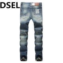[globalbuy] Slim Straight Denim Jeans Ripped Trousers Designer Logo Dsel Brand Jeans Men W/4063515