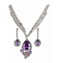AXORA Jewelry Set Real Platinum Plated TG0164