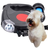 Tali Anjing Automatic Retractable Dog Leash LED Flashlight
