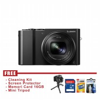 Camera Panasonic Lumix DMC-TZ110 Hitam - FREE Accessories