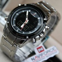Navi Force NF9050 Jam Tangan Pria - Stainless Steel (White)