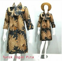 DRESS BATIK TUNIK 2017 | MOTIF TUNIK SOGAN PITA