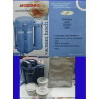 [Akebonno] Lunch Box With Vacuum Flask 350ml LA-1200-2, Kotak Makan