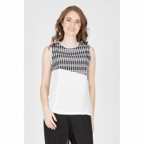 [Berrybenka] Edda Black Diagonal Top