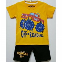 SETELAN ANAK SIZE 7-10 OSHKOSH JEEP OFF ROADING KUNING