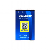 Wellcomm Battery CS-2 Double IC 1100/1200 mAh Untuk BB Gemini