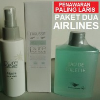 PAKET PALING SPESIAL PARFUM DUA AIRLINES 2X100ML AUTHENTIC ORIGINAL