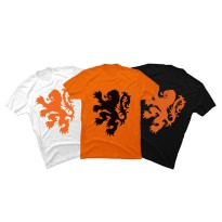 Kaos print unisex Holland (Lion)