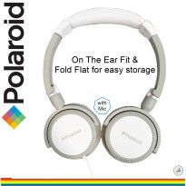Polaroid headphone on ear fit with soft ear pad &foldable for easy storage handsfree headset H096-GY