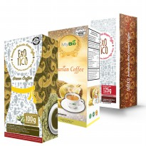 PROMO EXOTICO - MyBio Durian Coffee, Red Ginger Coffee, Green Coffee, Delight Matcha Green Tea