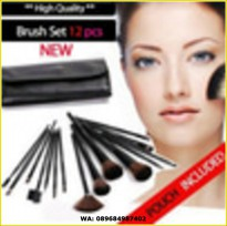 BRUSH SET 12PCS With Leather Pouch / Kuas mac 12 set Best Seller
