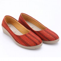 Dr.Kevin Canvas Wedges Shoes 43131 Black, 43130 Maroon